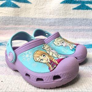 Crocs Frozen Disney Anna Elsa Clogs Purple Rubber